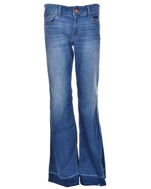 J Brand - Blue Slit Sides Flared Jeans - Lyst