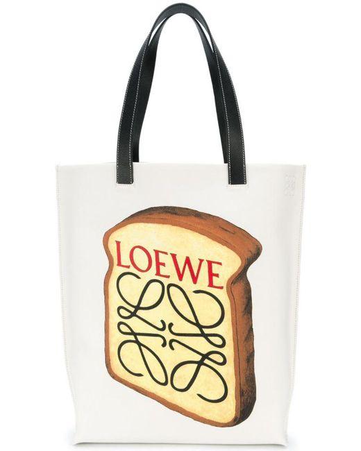 Loewe   White Toast Printed Tote   Lyst