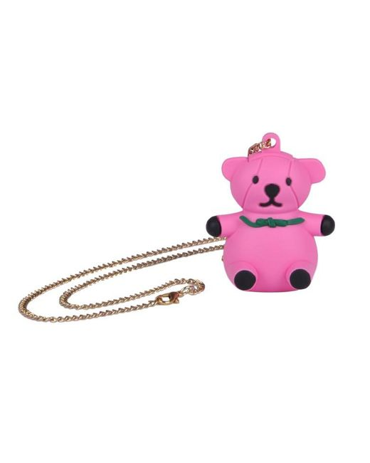 Moschino - Pink Bear Necklace - Lyst