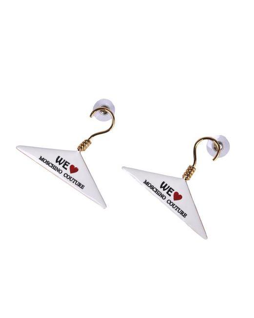 Moschino | Metallic Dry-clean Hanger Earrings | Lyst
