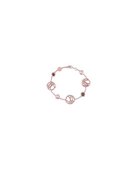 Catherine Malandrino | Pink 18k Rose Goldplated Rose And Smokey Quartz Bracelet | Lyst