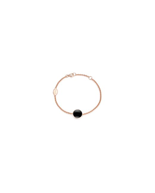 PIARA   Black Rose Goldplated Sterling Silver And Onyx Bracelet   Lyst