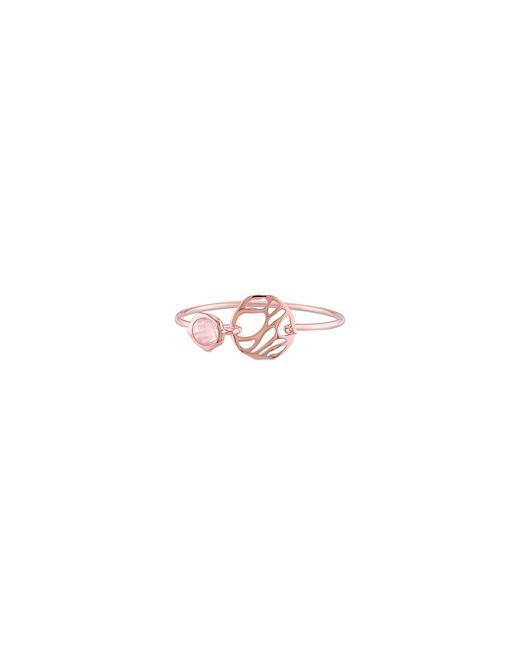 Catherine Malandrino   Pink 18k Rose Goldplated Rose Quartz Bangle Bracelet   Lyst
