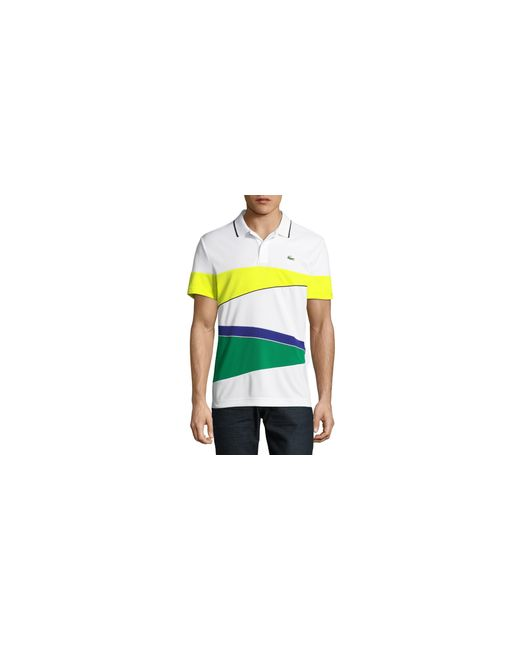 Lacoste | Yellow Rugby Stripe Polo for Men | Lyst