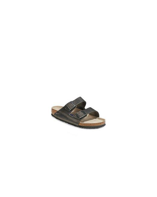 Birkenstock | Gray Arizona Soft Oiled Leather Sandals for Men | Lyst