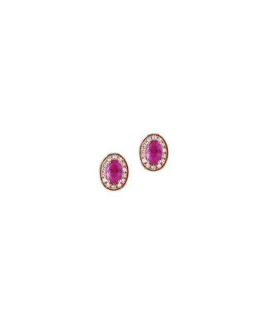 Effy | Pink 14k Rose Gold Ruby Earrings Box Set | Lyst