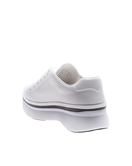 Muve white leather sneakers Prada ojwtI