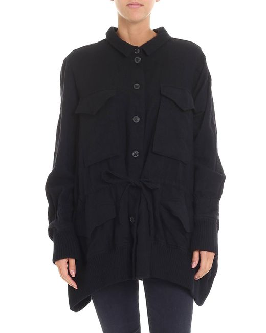 Rundholz - Black Jacket With Drawstring - Lyst