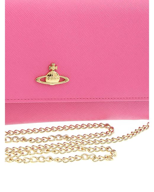 abfd93a63e2c3 ... Vivienne Westwood - Pink Clutch With Logo - Lyst ...