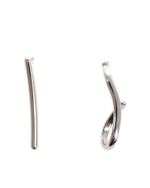 Maison Margiela - Metallic Earrings In Silvered Brass - Lyst