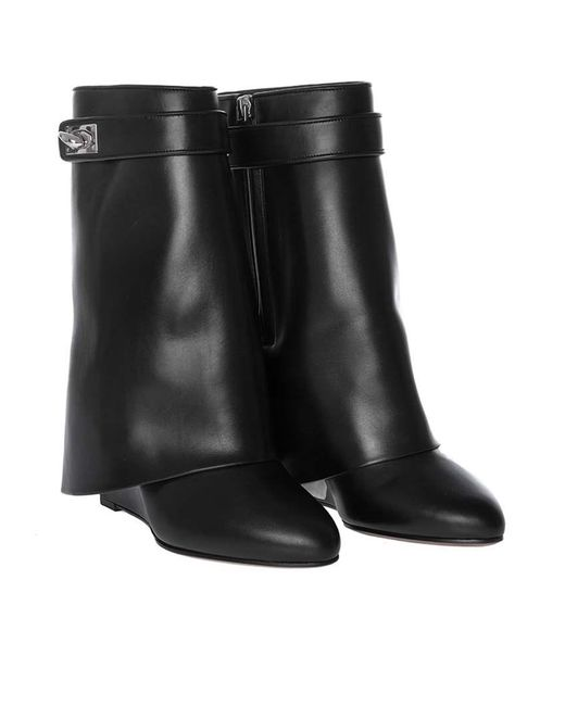 Givenchy - Black Leather Ankle Boots - Lyst