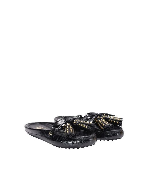 Car Shoe - Black Patent Leather Mocassins - Lyst