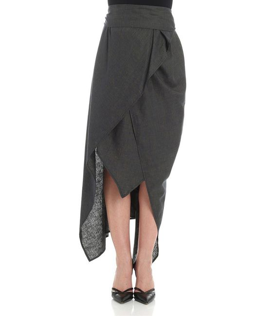 Vivienne Westwood Anglomania - Gray Asymmetrical Skirt - Lyst
