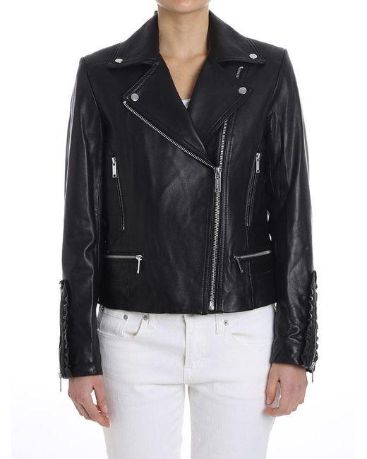 Michael Kors - Black Leather Jacket - Lyst