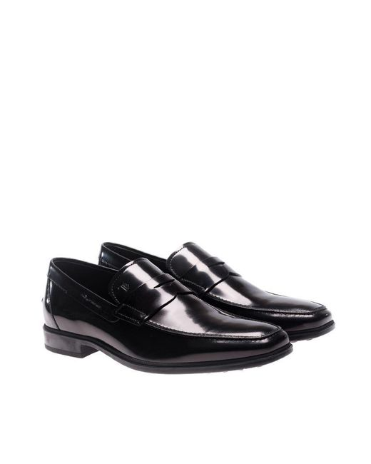 Tod's - Black Brushed Leather Loafers for Men - Lyst