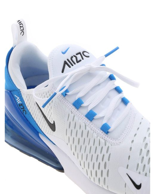 the best attitude f855d e3226 ... Nike - Air Max 270 Sneakers In White And Blue for Men - Lyst