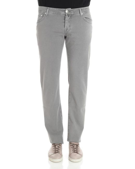 Jacob Cohen - Gray Cotton Trousers for Men - Lyst