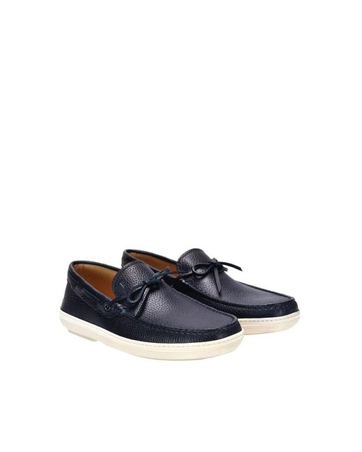Tod's - Blue Leather Loafers for Men - Lyst