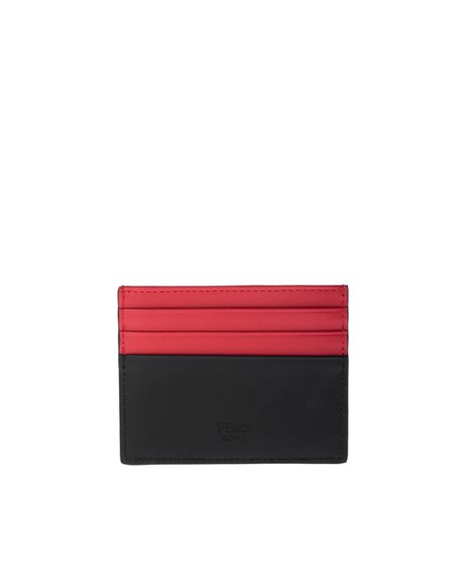 76c6b833530 ... Fendi - Black Monster Eyes Credit Card Holder In Smooth Leather With  Maxi Eyes Bag Bugs ...