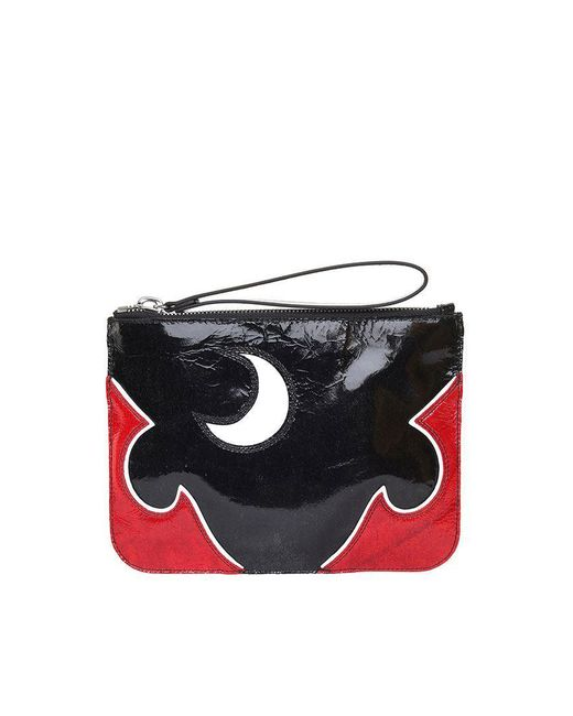 Solestice patent and leather clutch Alexander McQueen L8JAr