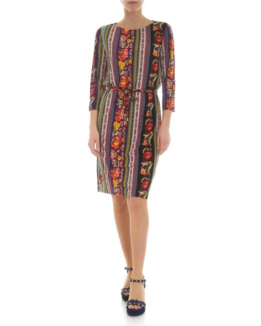 Etro Multicolor Dress In Viscose With Floral And Paisley Floral Motif