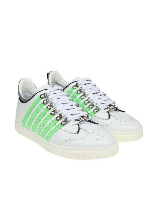DSquared² - White Runner 251 Sneakers for Men - Lyst