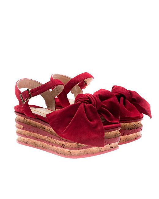 Paloma Barceló - Red Rose Sandals - Lyst