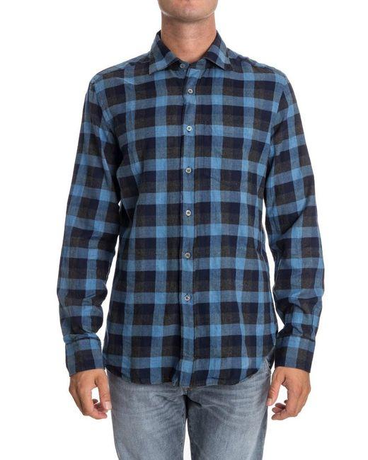 Missoni - Blue Cotton Shirt for Men - Lyst