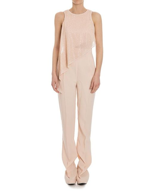 Elisabetta Franchi - Metallic Gold Collection Jumpsuit - Lyst