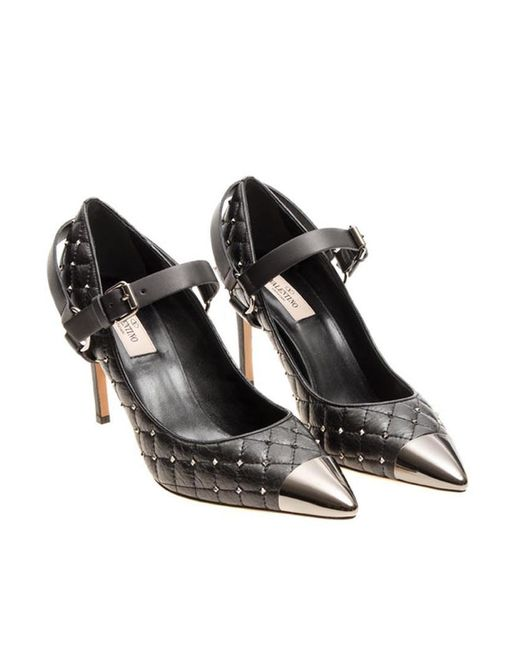 Valentino - Black Quilted Leather Pumps - Lyst
