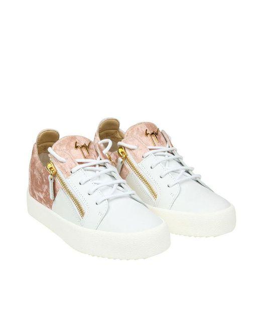 Giuseppe Zanotti - Multicolor Leather And Velvet Sneakers - Lyst