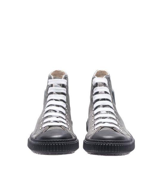 fefaea729989 ... promo code for prada sport multicolor hemp sneakers with logo insert  for men lyst 04f79 2497b