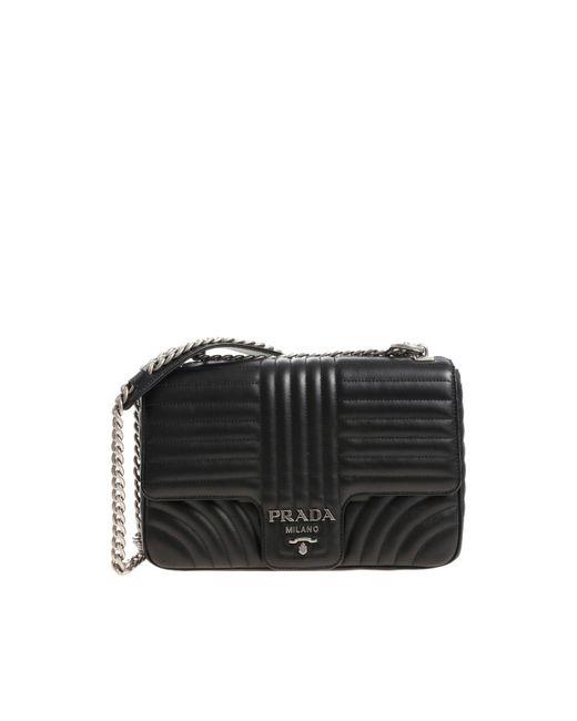 610ebeb2f55e Lyst - Prada Quilted Black Leather Shoulder Bag in Black - Save 10%