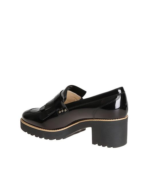 HOGAN donna Route 277 tronchetto liscio in vernice NERO con zip. Tacco 6 cm,hogan  277 hogan 277 ... Hogan - Black Route 277 Shoes - Lyst ...,hogan 277 1d910a8eb1a