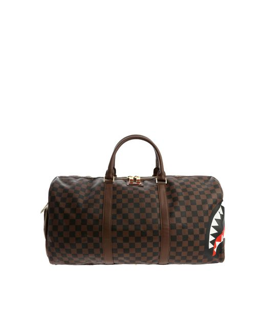 "Sprayground - Brown ""sharks In Paris Duffle"" Duffle Bag for Men - Lyst"