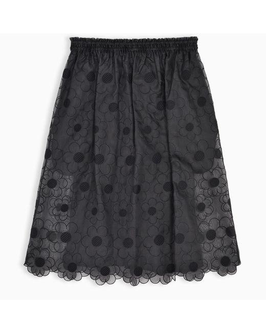4 MONCLER SIMONE ROCHA Black Simone Rocha Organza Skirt