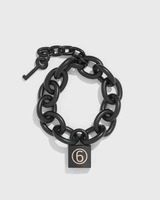 MM6 by Maison Martin Margiela - Metallic Chain Padlock Bracelet - Lyst