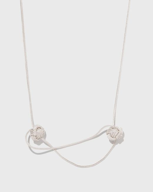 Saskia Diez | White Big Knot Necklace No. 1 | Lyst