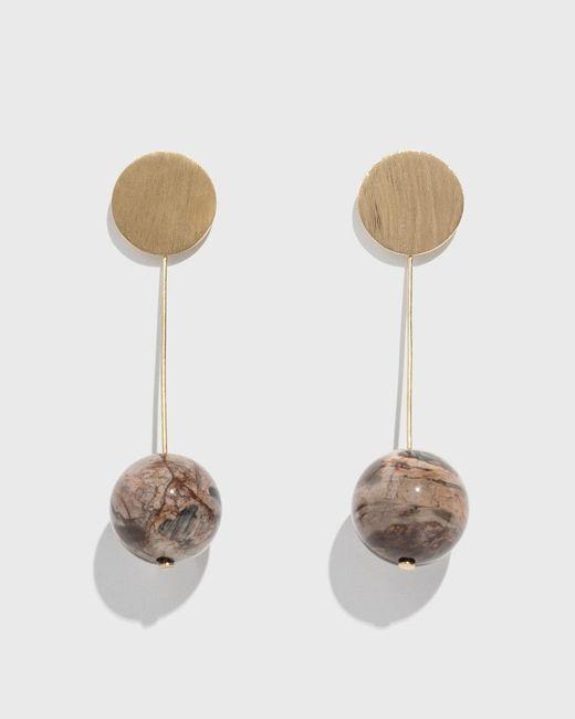 Modern Weaving - Multicolor White Wood Opalite Stone Drop Earrings - Lyst