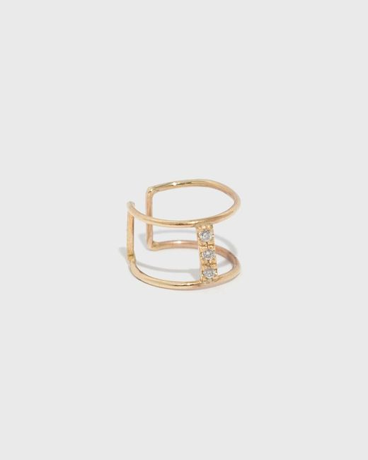 Loren Stewart - Metallic Diamond Bar Ear Cuff - Lyst