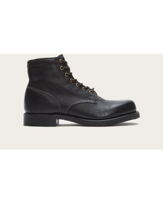 Frye | Black Arkansas Mid Lace for Men | Lyst
