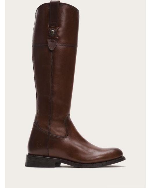 Frye - Brown Jayden Button Tall Wide Calf - Lyst