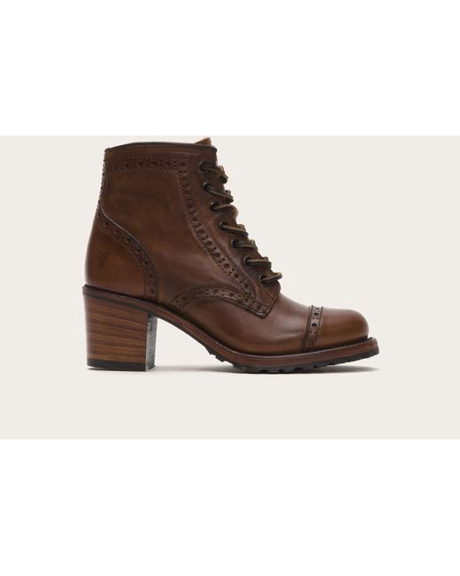 Frye | Brown Sabrina Brogue | Lyst