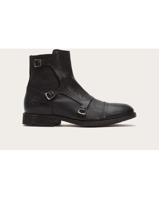 Frye | Black Ethan Triple Monk | Lyst