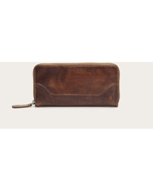 Frye | Brown Melissa Zip Wallet | Lyst