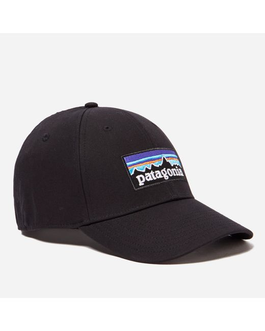 Patagonia | Black P6 Logo Stretch Fit Hat for Men | Lyst