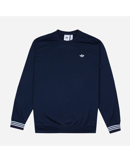 ce37854424b12 Adidas Originals - Blue Crewneck Sweatshirt for Men - Lyst ...