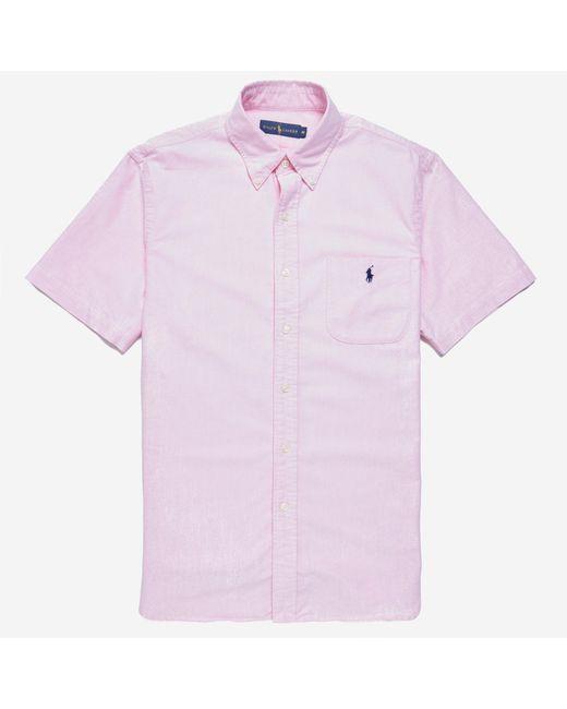 Polo Ralph Lauren | Pink S/s Bd Oxford Shirt for Men | Lyst