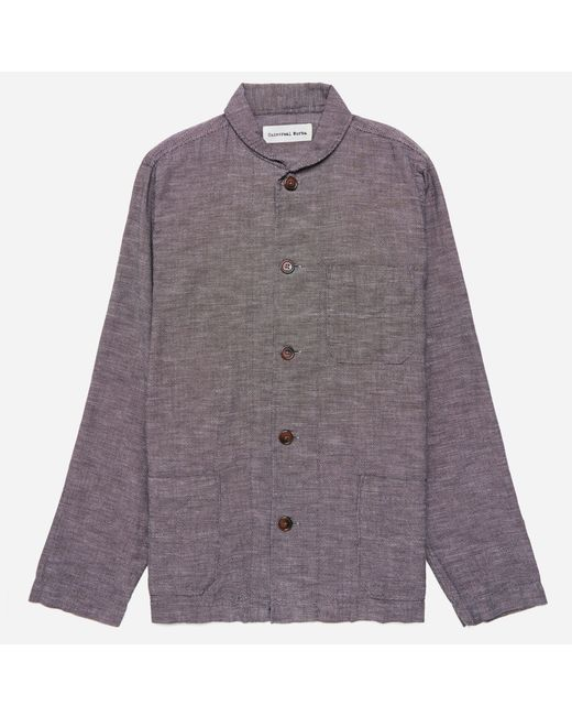 Universal Works | Brown Seal Cotton Shawl Collar Overshirt for Men | Lyst