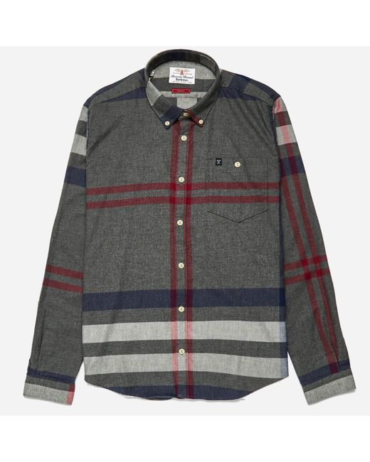 Barbour   Gray Alfie Shirt for Men   Lyst